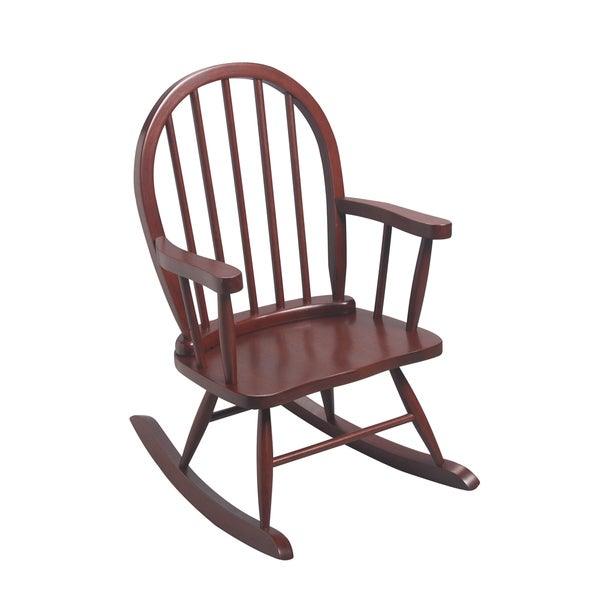 Gift Mark Home Kidsu0026#x27; Windsor Cherry Resting Rocking Chair