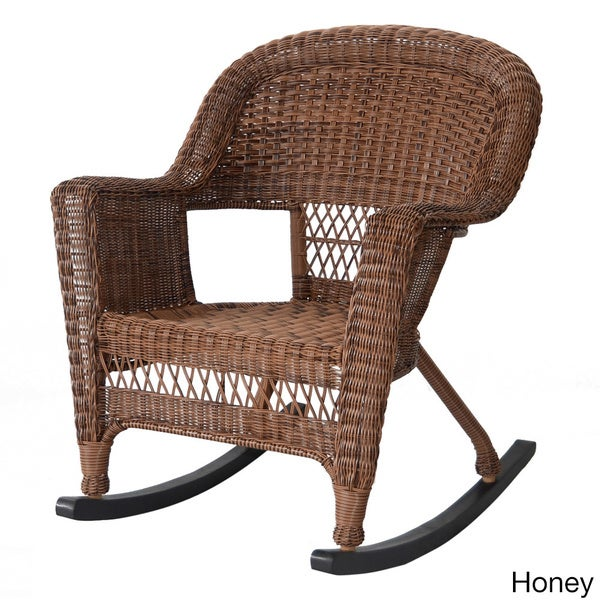 wicker rocker patio chairs set of 2 free shipping today overstock 16449062. Black Bedroom Furniture Sets. Home Design Ideas