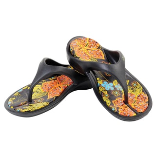 Garden Outfitters Women's Black Thong Sandal (Size 10)
