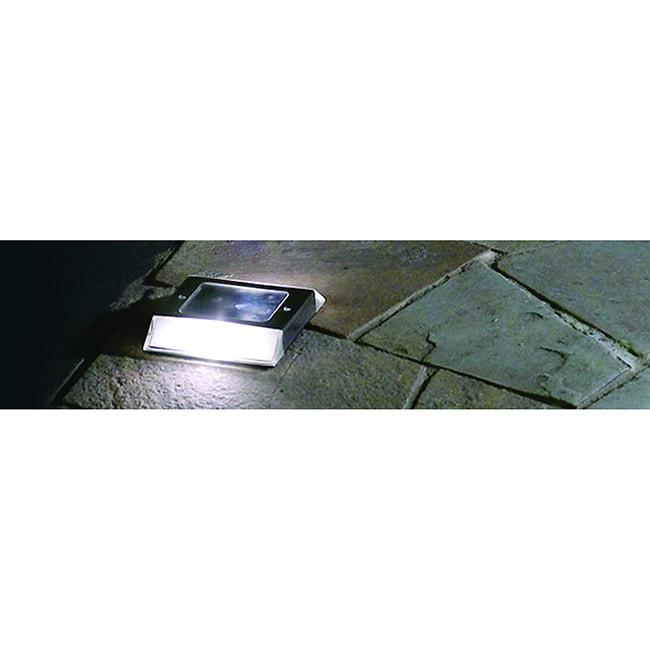 MFG Stainless Steel Solar Path Light (Set of 2) (Stainles...