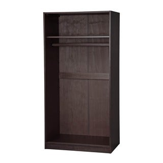 Palace Imports Customizable Solid Wood Wardrobe with Two Sliding Doors