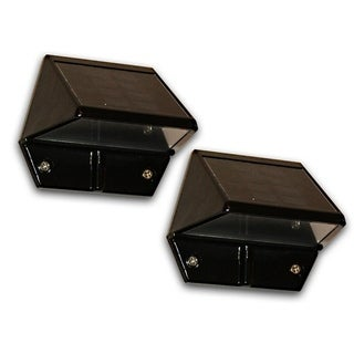 Black Solar Deck and Wall Light (Set of 2)