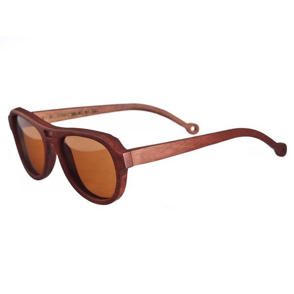 30ba0443e4 Shop Earth Men s  Coronado 019r  Wood Aviator Sunglasses - Free ...