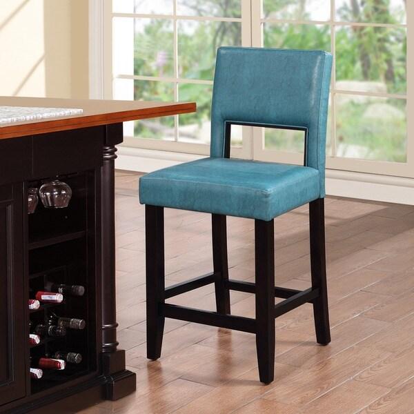 Sport Bar Design Ideas A Look At Sports Bar Stools: Shop Linon Zeta Ocean Blue Fabric Stationary Counter Stool