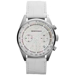Emporio Armani Women's AR6011 Sportivo White Watch https://ak1.ostkcdn.com/images/products/9286595/P16449540.jpg?impolicy=medium