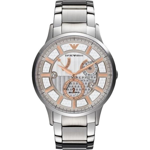 b2db37d46 Shop Emporio Armani Men's AR4668 Meccanico Stainless Steel Watch ...