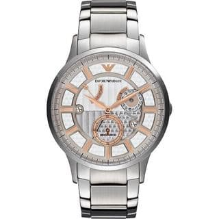 Emporio Armani Men's AR4668 Meccanico Stainless Steel Watch|https://ak1.ostkcdn.com/images/products/9286597/P16449539.jpg?impolicy=medium