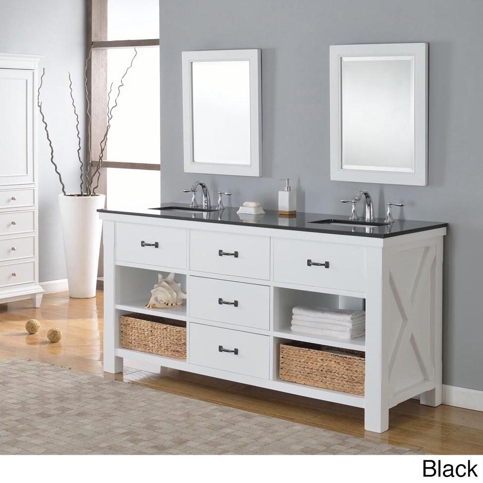 DVS Direct Vanity 70-inch Pearl White Xtraordinary Spa Do...