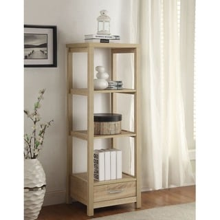 Linon Old School Media Tower with Drawer & Shelves
