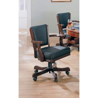 Coaster Company Cherry Wood/ Black Vinyl Game Chair