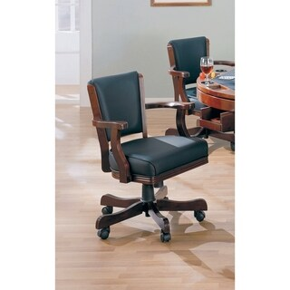 Coaster Company Cherry Wood/ Black Vinyl Game Chair