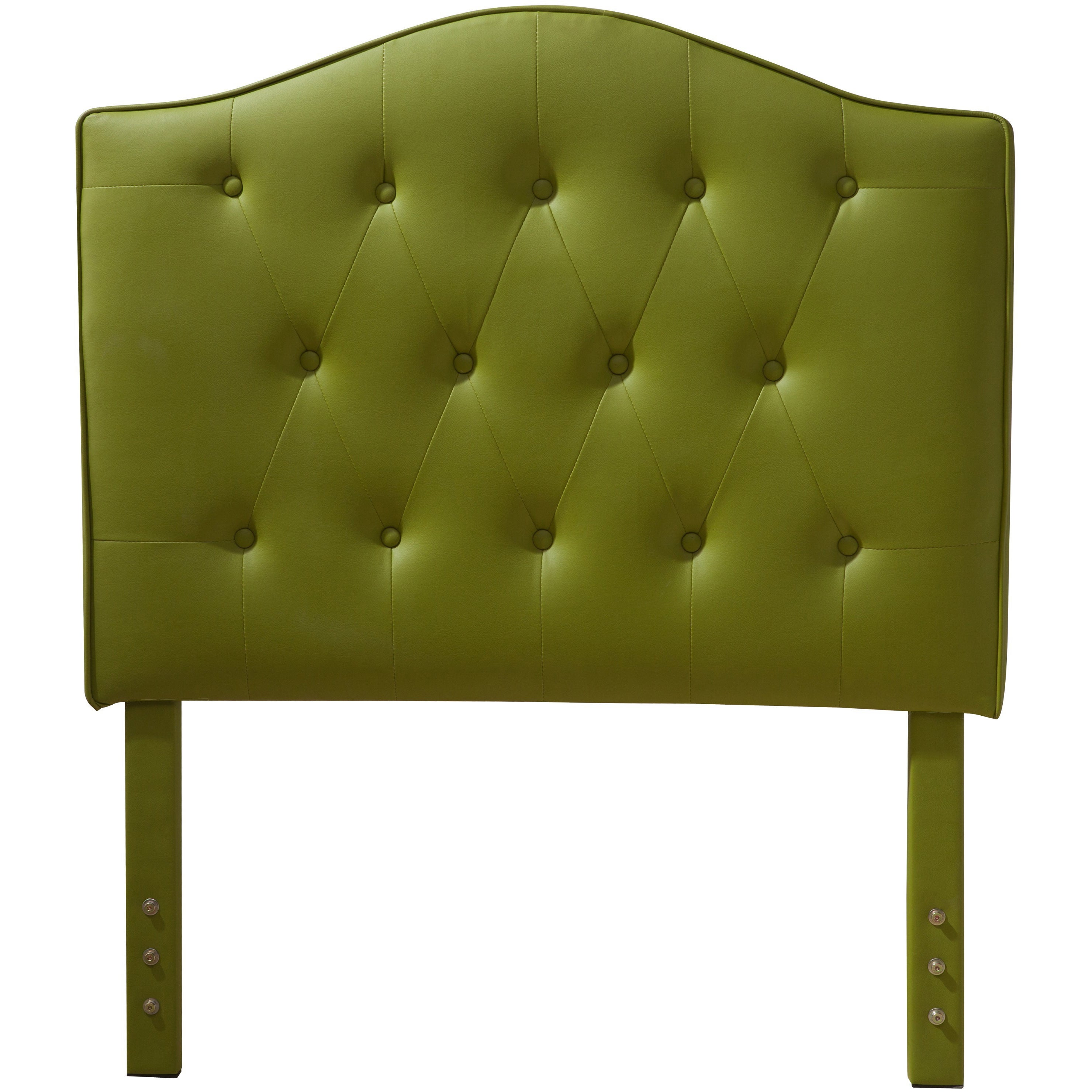 Luxury Comfort Collection Lime Green Faux Leather Button Tufted Twin Size Headboard Overstock 9286816
