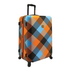 Loudmouth Luggage Microwave 29in Hardsided Expandable Spinner Orange/Blue