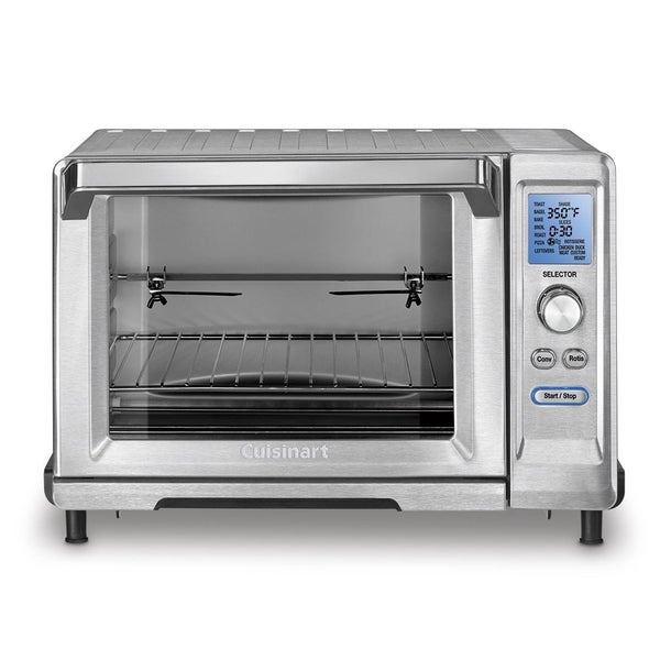 Convection Countertop Oven Stainless Steel : Cuisinart TOB-200 Stainless Steel Rotisserie Convection Toaster Oven ...