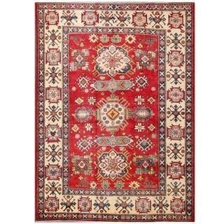 Herat Oriental Afghan Hand-knotted Kazak Wool Rug (5'7 x 7'5)