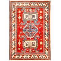 Handmade Herat Oriental Afghan Kazak Wool Rug (Afghanistan) - 4'4 x 6'3