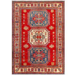 Herat Oriental Afghan Hand-knotted Kazak Wool Rug (4'5 x 6'1)