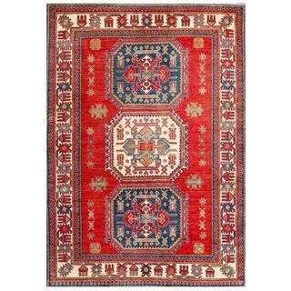 Herat Oriental Afghan Hand-knotted Kazak Wool Rug (4'5 x 6'2)