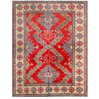 Herat Oriental Afghan Hand-knotted Kazak Wool Rug (3'10 x 4'10)