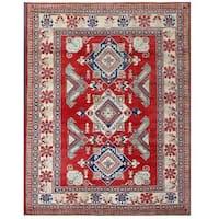 Handmade Herat Oriental Afghan Kazak Wool Rug  - 7'3 x 8'2 (Afghanistan)