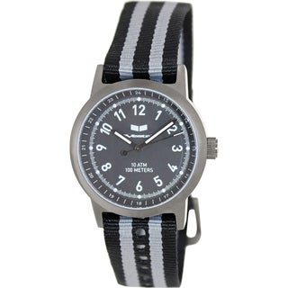 Vestal Men's Alpha Bravo Zulu ABZ3C02 Two-tone Nylon Black Dial Watch