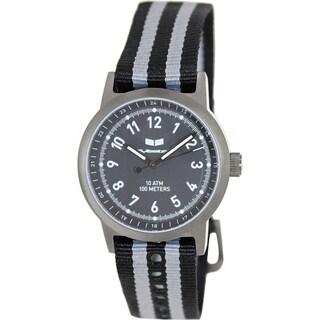 Vestal Men's Alpha Bravo Zulu ABZ3C02 Two-tone Nylon Black Dial Watch