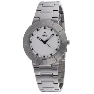 Obaku Women's V140LCISC Harmony Silvertone Bracelet Watch