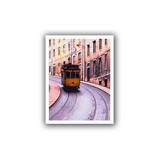 Dean Uhlinger 'Lisbon Transit' Unwrapped Canvas - Multi