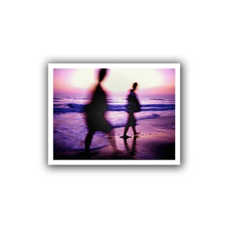 Dean Uhlinger 'Beach Combers' Unwrapped Canvas