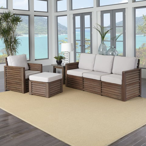 Barnside Three Seat Sofa, Chair, Ottoman, and End Table by Home Styles