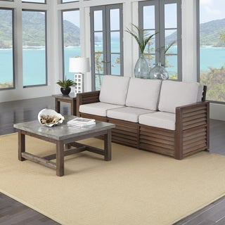 Barnside Three Seat Sofa, End Table, and Coffee Table by Home Styles