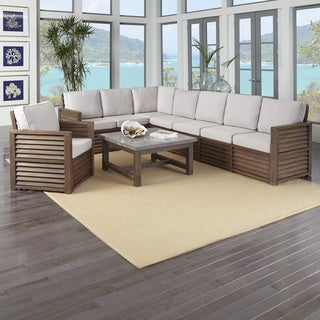 "Home Styles Barnside 80.5 x 128.5 Corner ""L"" Sofa, Chair, and Coffee Table"