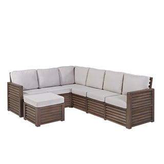 "Home Styles Barnside 80.5 x 104.5 Corner ""L"" Sofa and Ottoman"