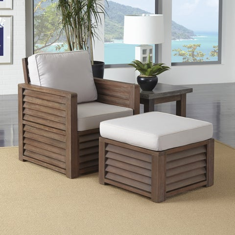 Barnside Chair, Ottoman, and End Table by Home Styles