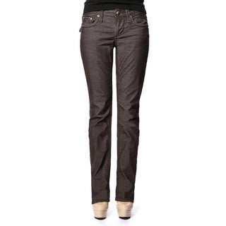 Stitch's Women's Lightweight Brown Cords Straight Leg Jeans