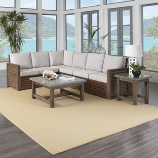 """Home Styles Barnside 80.5 x 104.5 Corner """"L"""" Sofa, End Table, and Coffee Table"""