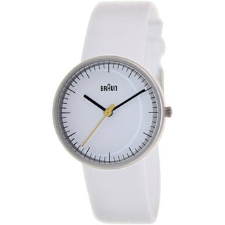 Braun Women's BN0021WHWHL White Leather Quartz Watch