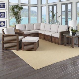 "Home Styles Barnside 80.5 x 104.5 Corner ""L"" Sofa, Chair, Ottoman, and End Table"