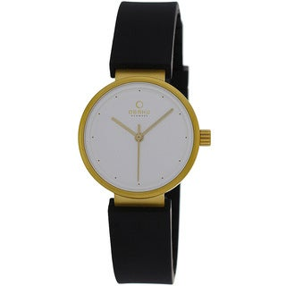 Obaku Women's V138LGCXB Harmony Black Rubber Watch