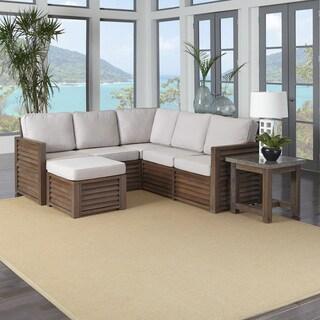 "Home Styles Barnside 80.5 x 80.5 Corner ""L"" Sofa, Ottoman, and End Table"