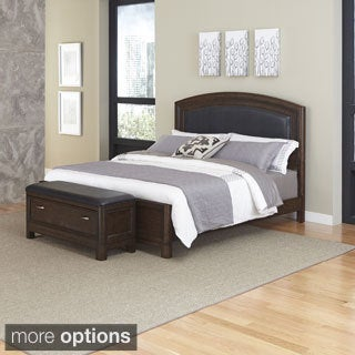 Home Styles Crescent Hill Bed and Upholstered Bench