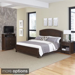 Crescent Hill Bed, Night Stand, & Media Chest by Home Styles