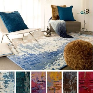 Hand Tufted Lucas Abstract New Zealand Wool Area Rug