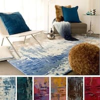 Hand Tufted Lucas Abstract New Zealand Wool Area Rug - 8' x 11'