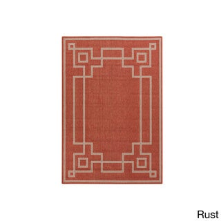 Meticulously Woven Odette Contemporary Geometric Indoor/Outdoor Area Rug (6' x 9')
