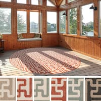Nikki Contemporary Geometric Indoor/Outdoor Area Rug - 7'3 x 7'3