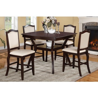 Halden Dark Brown 5-piece Counter Height Dining Set