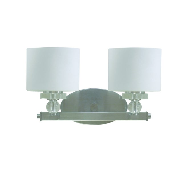 overstock bathroom vanity lights 2 light bathroom vanity with cylindrical white dove shades 19839