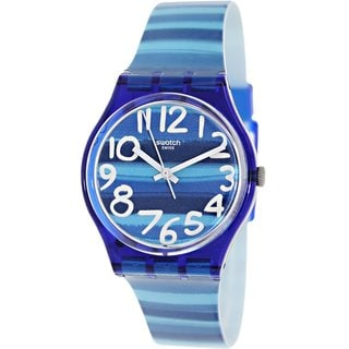Swatch Men's Originals GN237 Blue Plastic Swiss Quartz Watch with Blue Dial
