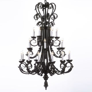 Gallery 24-light Wrought Iron Foyer / Entryway Chandelier